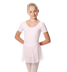 Child Short Sleeve Skirted Ballet Leotard Nelly