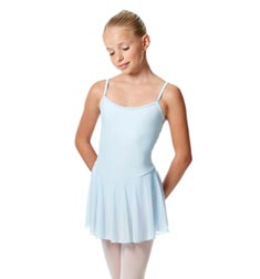 Girls Camisole Mesh Skirted Ballet Leotard Bianca