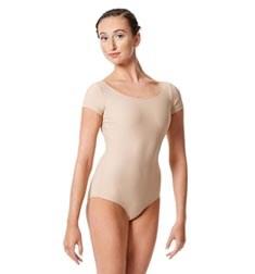 Womens Short Sleeve Matte Dance Leotard Inga