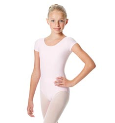 Child Short Sleeve Matte Dance Leotard Inga