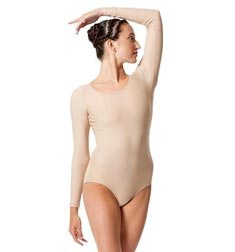 Womens Matte Long Sleeve Dance Leotard Sylvie