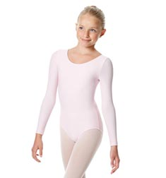 Child Matte Long Sleeve Dance Leotard Sylvie