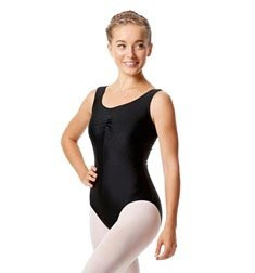 Womens Shiny Pinch Front Tank Ballet Leotard Eleonore