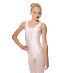 Girls Shiny Pinch Front Tank Ballet Leotard Eleonore