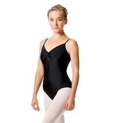 Womens Shiny Pinch Front Camisole Dance Leotard Agnes