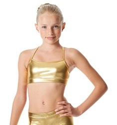 Girls Metallic Camisole Dance Bra Antonia