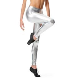 Adult Metallic Ankle Dance Leggings Nadine