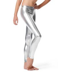 Girls Metallic Ankle Dance Leggings Nadine