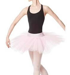 Adult Rehearsal Ballet 4 Layer Tutu Skirt