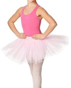 Girls Rehearsal Ballet 4 Layer Tutu Skirt
