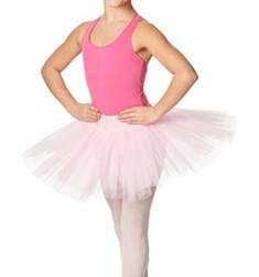 Girls Rehearsal Ballet 4 Layer Tutu Skirt