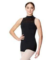 Geo Mesh Mock Neck Biketard Nova For Women