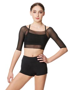 Mesh Cropped Dance Top Isla For Women