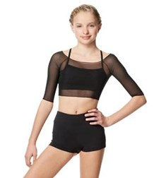 Mesh Cropped Dance Top Isla For Girls