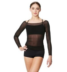 Mesh Long Sleeve Dance Top Faith For Women