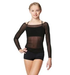 Mesh Long Sleeve Dance Top Faith For Girls