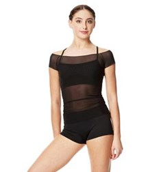 Mesh Cap Sleeve Dance Top Brianna For Women