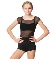 Mesh Cap Sleeve Dance Top Brianna For Girls