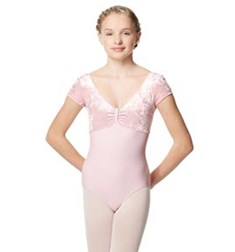Velvet Cap Sleeve Dance Leotard Eden For Girls