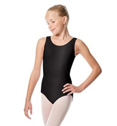 Girls Shiny Lycra Tank Dance Leotard Vittoria