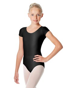 Girls Shiny Short Sleeve Dance Leotard Anastasia
