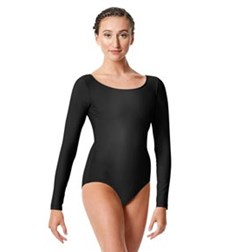 Womens Shiny Long Sleeve Dance Leotard Kasia