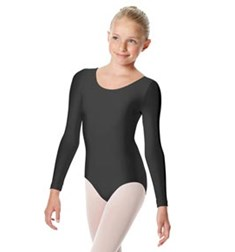 Girls Shiny Long Sleeve Dance Leotard Kasia