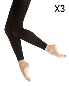 Footless Tights Tripack Microfiber 50 Denier Calla