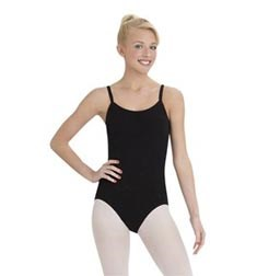 Womens Adjustable Straps Camisole Dance Leotard