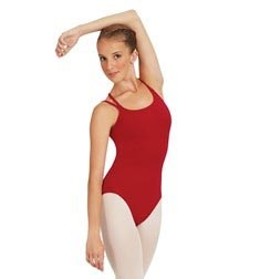 Womens Double Straps Camisole Dance Leotard