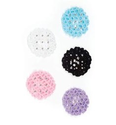 Rhinestones Crochet Hair Bun Cover
