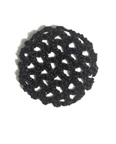 Child Lurex Crochet Hair Bun Cover