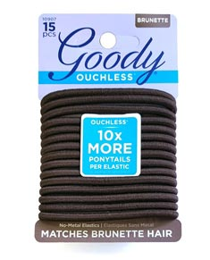 Matt Hair Elastics 15-Pack