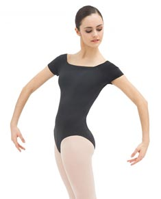 Womens Off The Shoulder Short Sleeve Dance Leotard