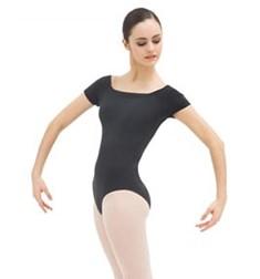 Womens Off The Shoulder Short Sleeve Dance Leotard