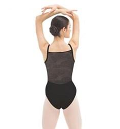 Womens Rosette Lace Back Ballet Leotard