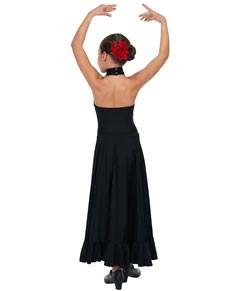 Girls Flamenco Dance Long Skirt