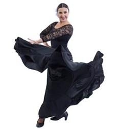 Womens Full Circle Flamenco Skirt