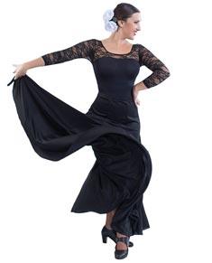 Womens Long Spanish Dance Skirt