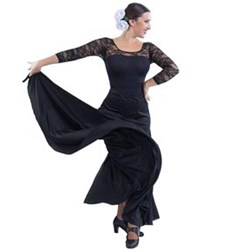 Womens Long Spanish Dance Skirt