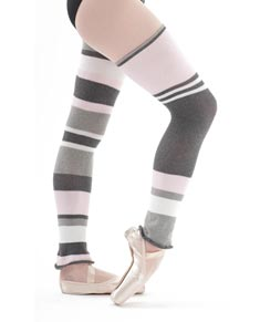 Striped Cotton Legwarmers 80 cm