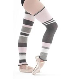Striped Cotton Legwarmers 80 cm