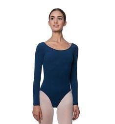 Adults Long Sleeved Velvety Ballet Leotard Liv