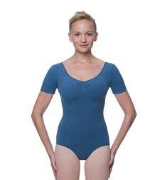 Womens Pinch Front and Back Short Sleeve Ballet Leotard Mckenzie