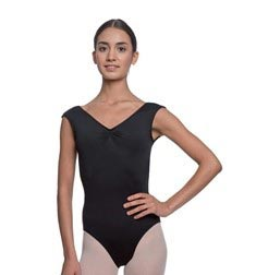Womens Pinch Front Cap Sleeve Ballet Leotard Reyton