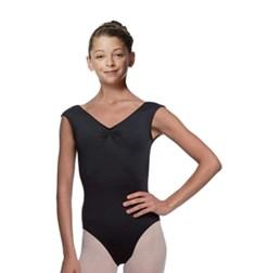 Girls Pinch Front Cap Sleeve Ballet Leotard Reyton