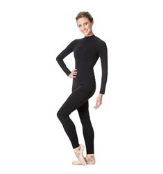 Adult Long Sleeve Mock Neck Dance Unitard Annabelle