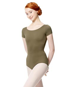 Adult Microfiber Short Sleeve Leotard Abigail