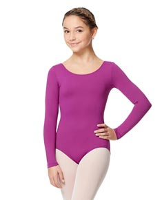 Long Sleeve Girl Dance Leotard Inez