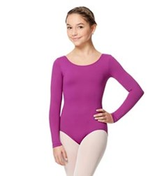 Child Microfiber Long Sleeve Dance Leotard Inez